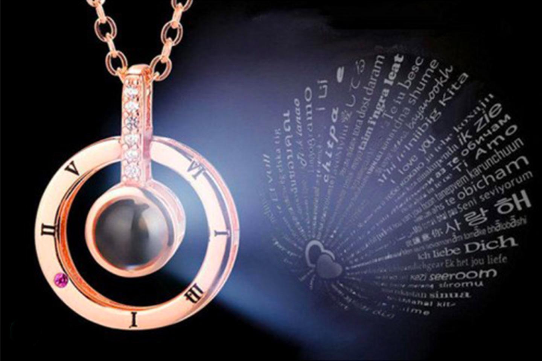 """Smycke med """"jag älskar dig""""-text (1 av 3)"""