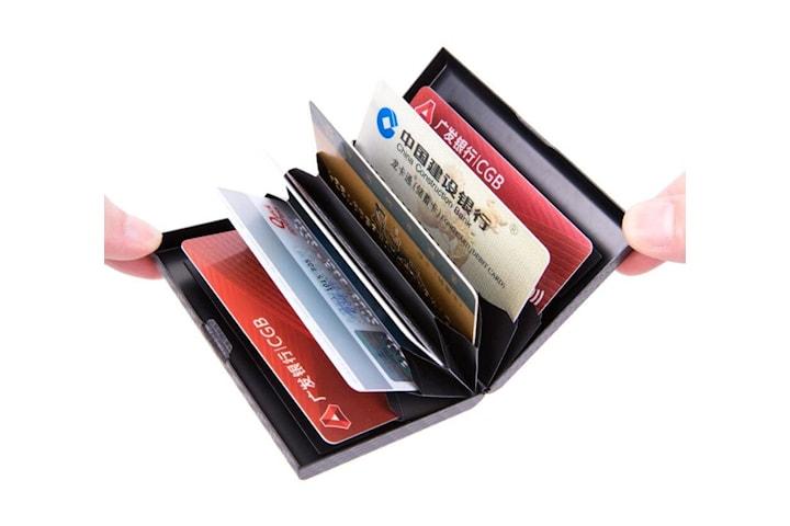 Kortholder i aluminium og RFID -beskyttelse
