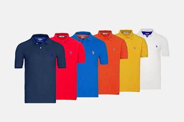 US Polo pique skjorte