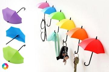 3-pack fargerike paraplykroker