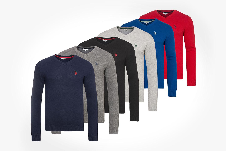 US Polo v-ringad tröja (1 av 1)