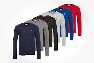 US Polo v-ringad tröja