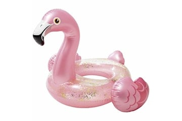 Uppblåsbar Badleksak, Intex - Glitter Flamingo Ring