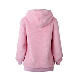 Rosa, S, Casual hooded pullover for women, Hettegenser, ,