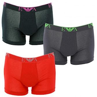 Svart, Röd, Grå, L, Armani Boxersorts, 3-pcs, Armani boxers 3-pack, ,