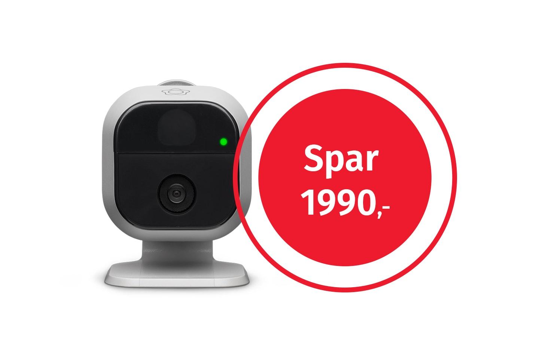 Få med et smartkamera til verdi av 1990 kr ved kjøp av Verisure boligalarm