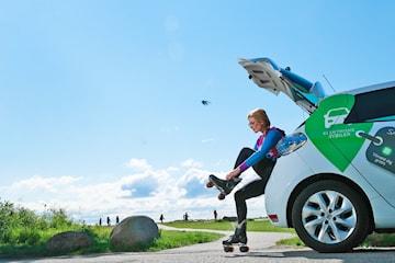 Hyr elbil från Greenmobility