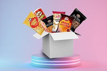 Snackbox med 15 favoritsnacks
