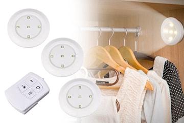 LED-lys med fjernkontroll 3-pack fra Ovivo