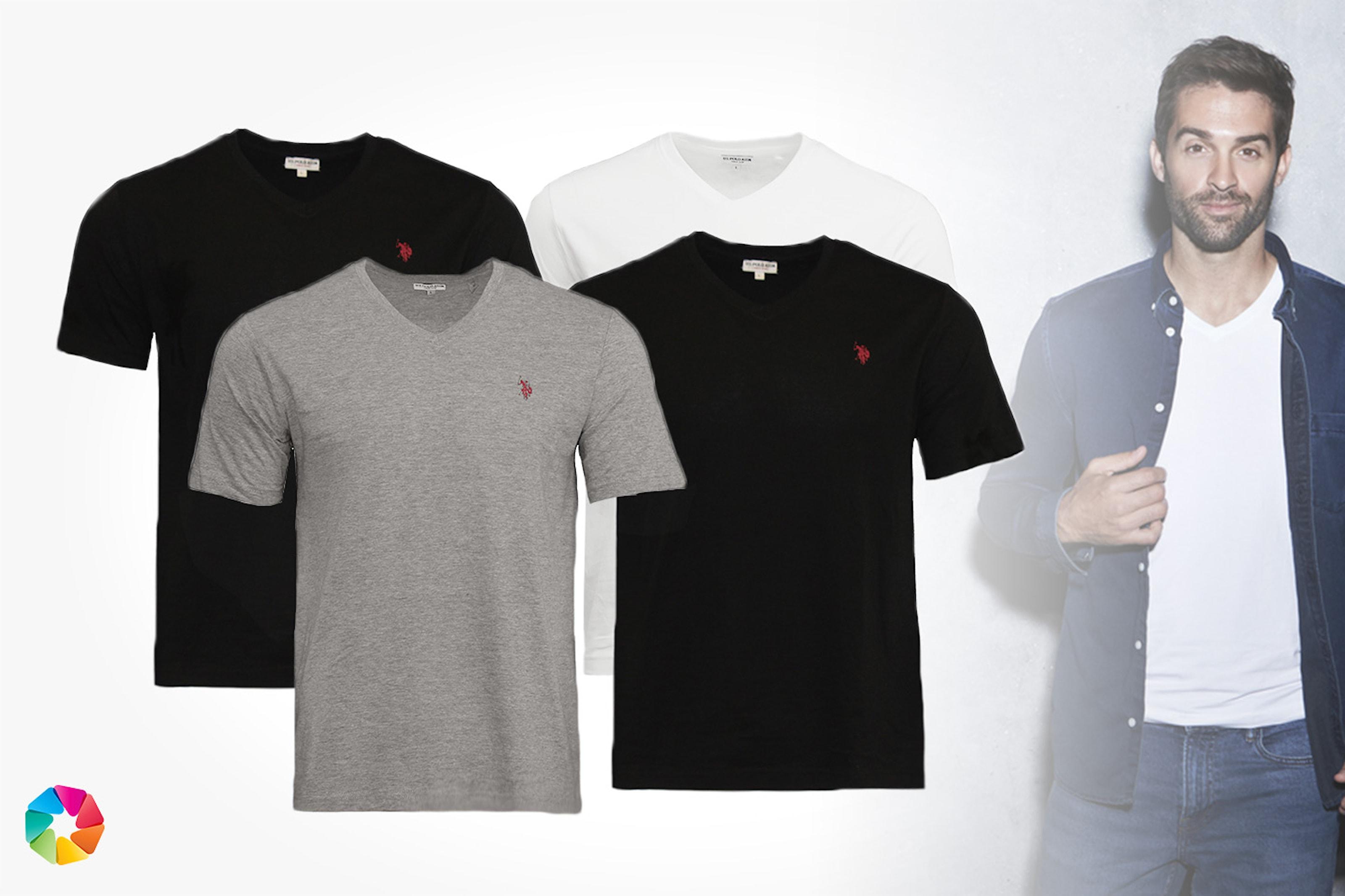 2-pack V-ringad t-shirt från U.S. Polo