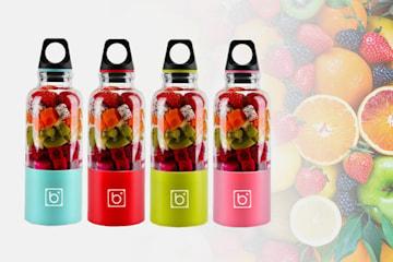 Flaske med innebygd blender