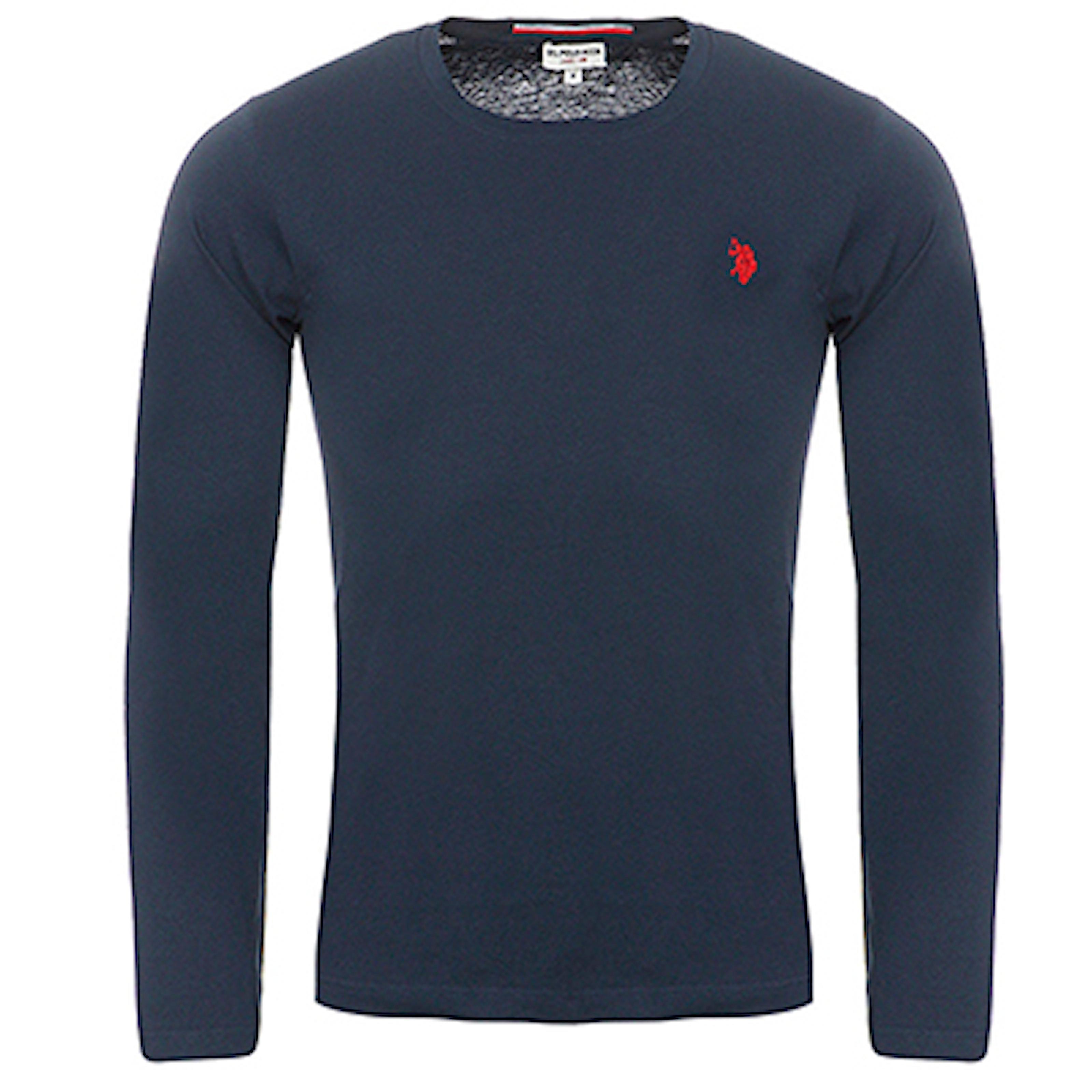 Marineblå, M, US Polo Longsleeve, U.S. Polo genser, ,