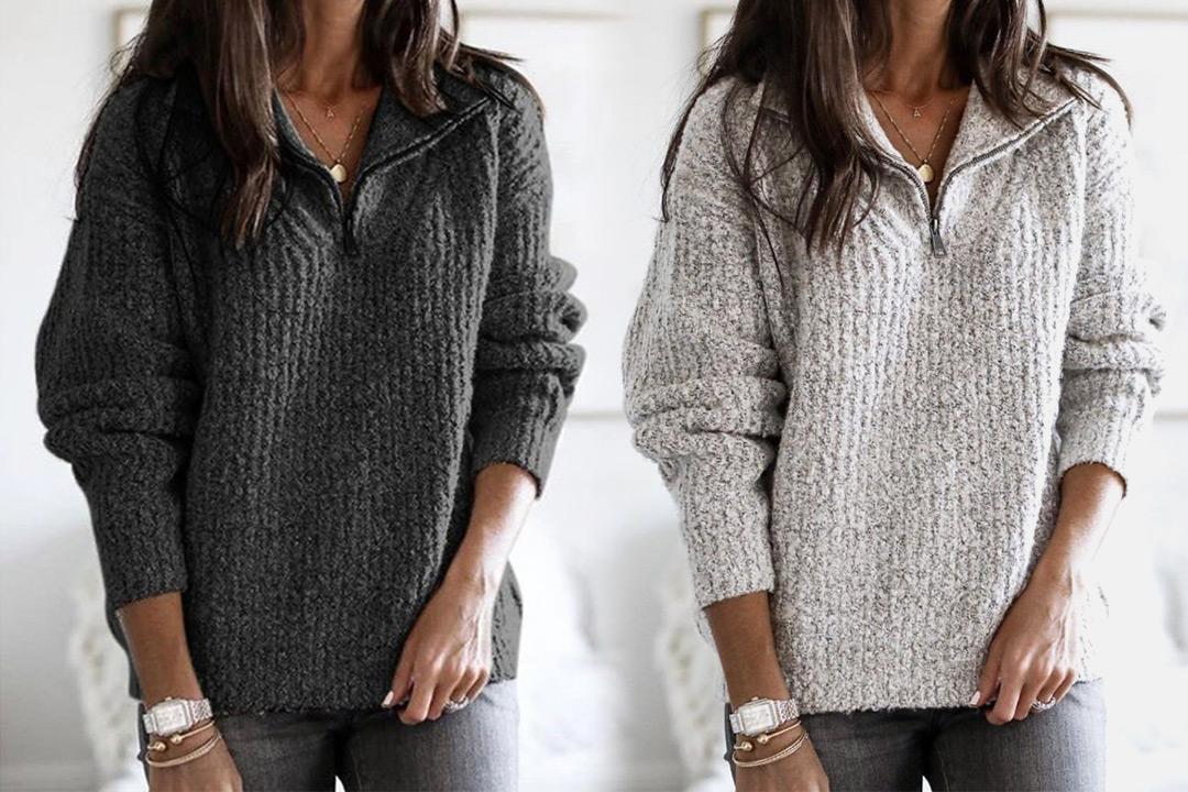 Strikket genser i damemodell | Tilbud, rabattkoder og deals
