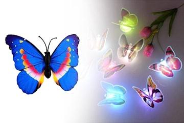 Sommerfugl dekorasjoner med lys