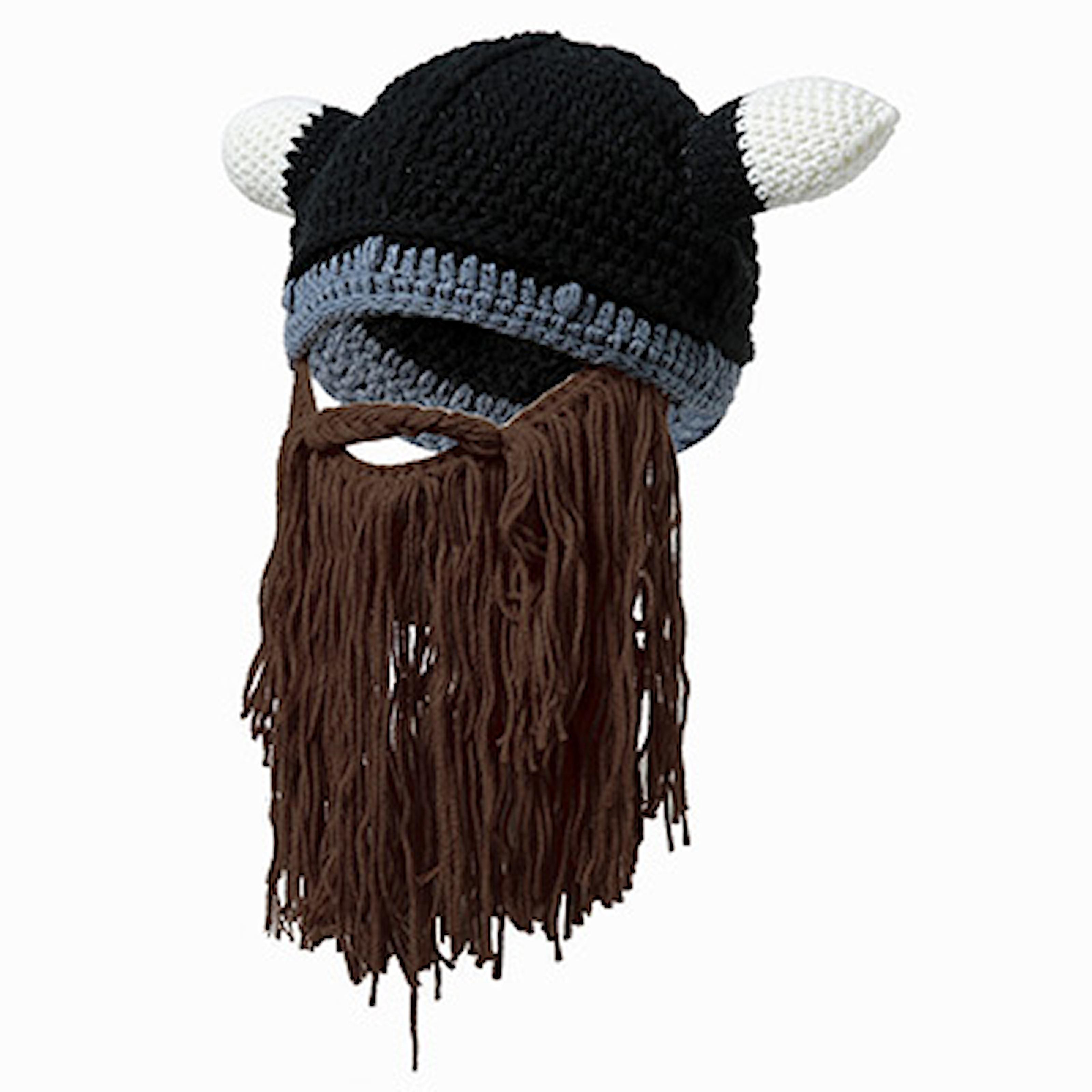 Brun, Viking Hat, Stickad vikingamössa, ,