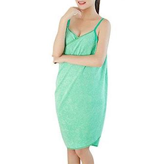 Grønn, Bathtowel Dress, Badehåndklekjole, ,