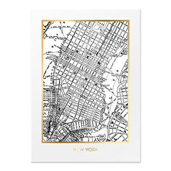 New York, City Poster from By On, ByOn poster med karta, ,
