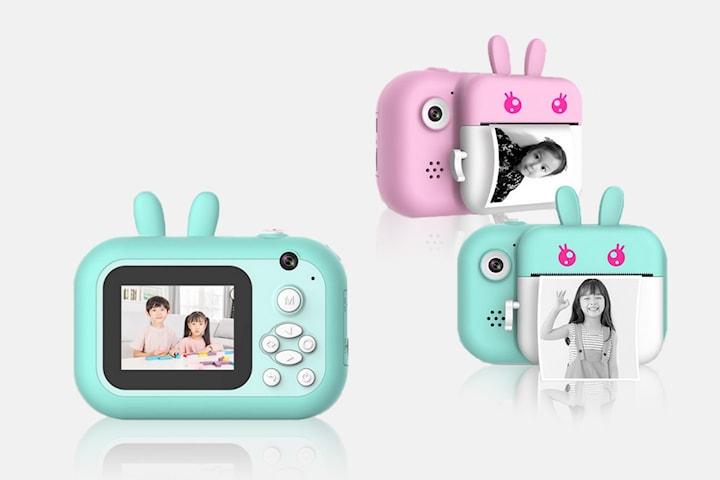 Lekfull polaroidkamera för barn