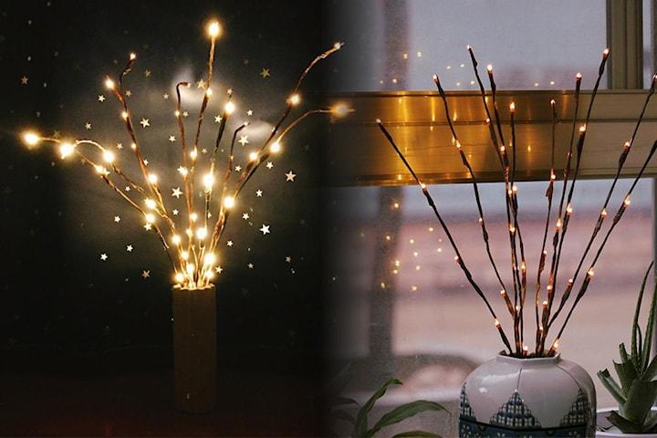 Dekorasjonskvister med LED-lys