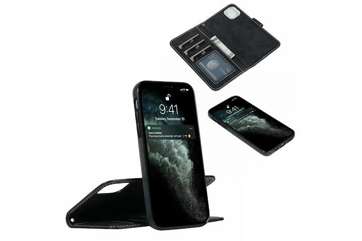 Suede magnetisk deksel til iPhone 11 med magnetlås.