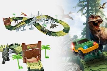 Bilbana med dinosaurier 144 delar