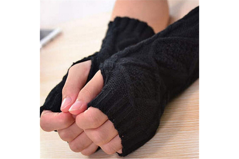 Fingerløse strikkede votter