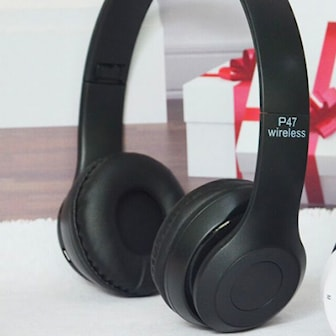 Svart, P47 BT Headphone, Bluetooth hodetelefoner P47, ,