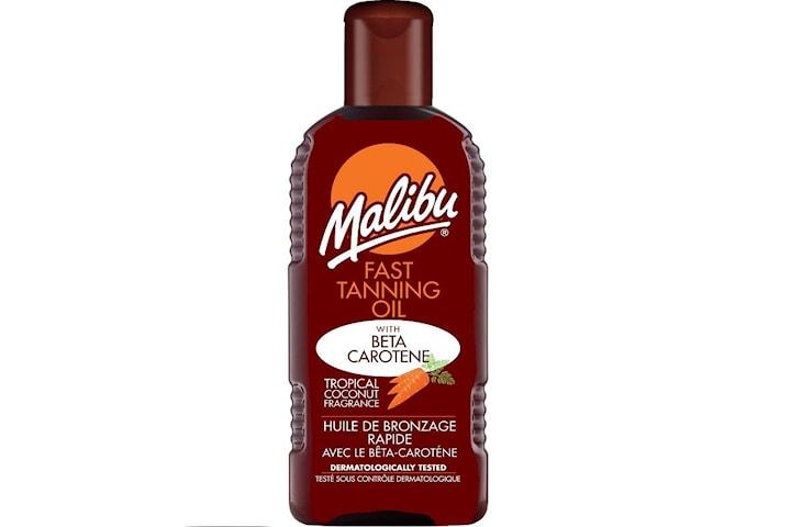 Malibu Fast Tanning Oil with Beta Carotene 100ml