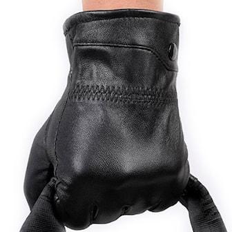 Svart, L, Genuine Leather Gloves, Fårskinnshandskar, ,