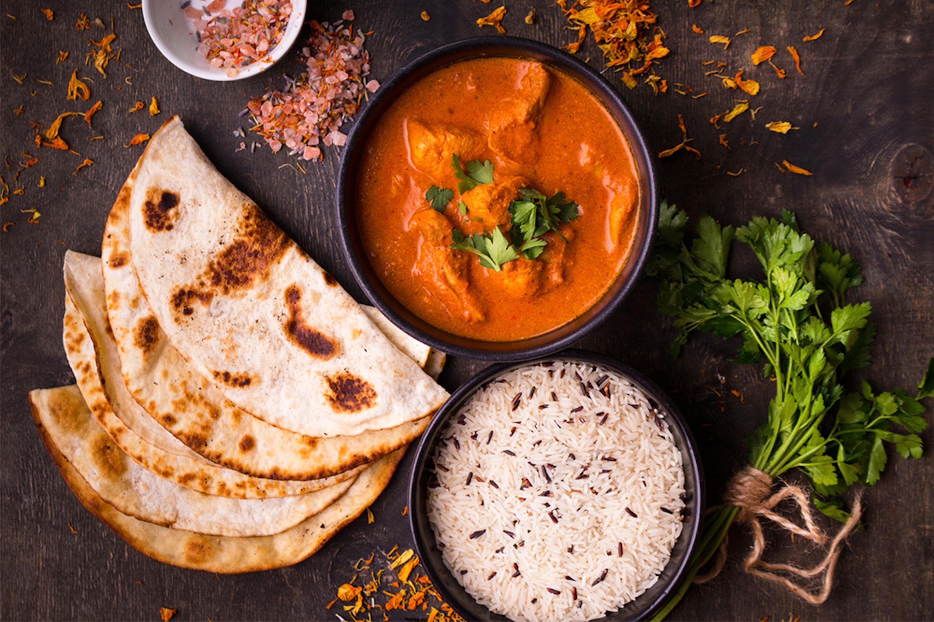 Indisk 2-rätters med tillbehör på Restaurang Lagan