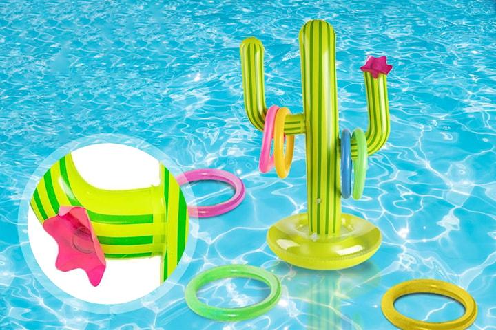 Oppblåsbart kaktusspill for morsom sommerlek