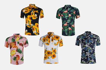 Mønstret herreskjorte