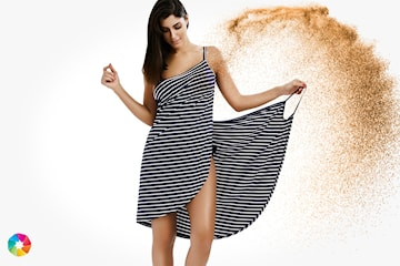 Strandklänning omlott