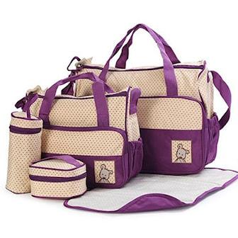 Lilla, 5-pack Baby Multifunction Bags, 8 Colors, Stelleveske i fem deler, ,
