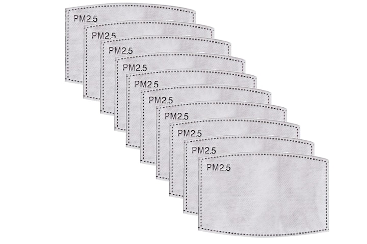 PM2.5-maskfilterinsats - 10 Pack