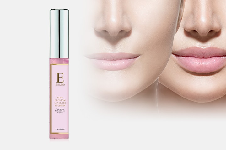 Rose blossom lip plumper
