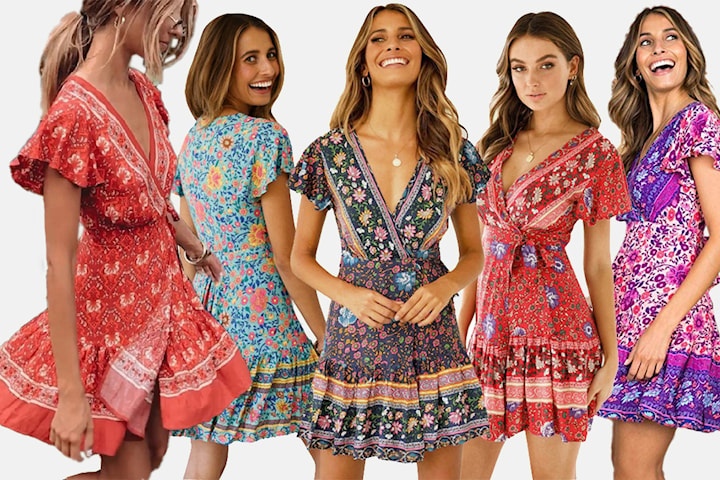 Bohemisk klänning
