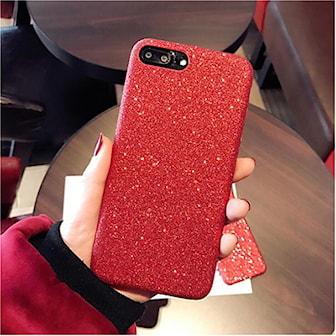 Röd, iPhone 6, Kerzzil Glitter TPU Case, Glitterskal till mobilen, ,