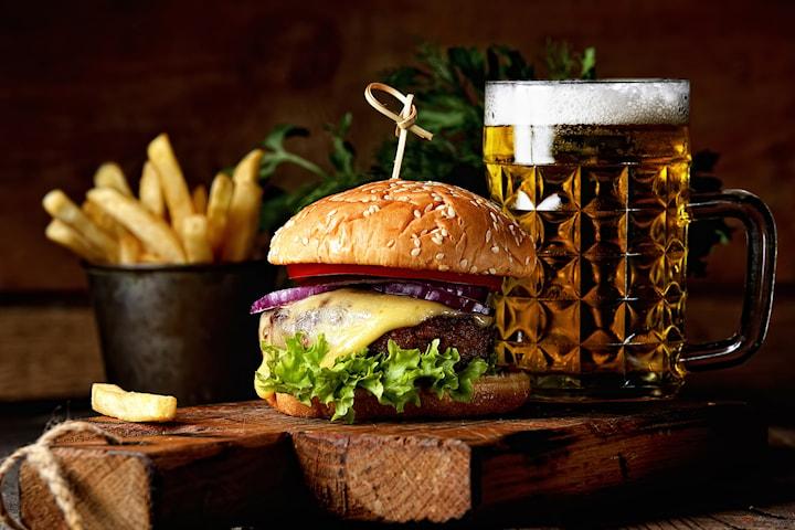 Tvårätters middag inkl. ett glas öl eller vin