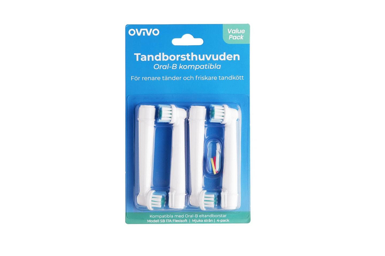 OVIVO tannbørstehoder kompatible med Oral-B