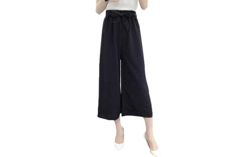 Løse bukser med høyt liv