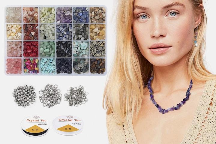 DIY-smyckeset med naturstenar