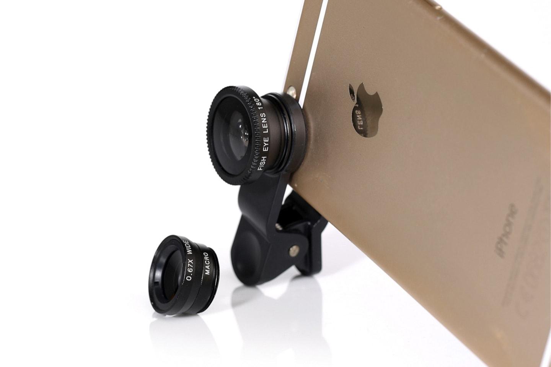 Tre kameralinser till mobilen