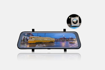 Dashcam speil med to kamera