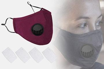 Ansiktsbeskyttelse med filter 2-, 4- eller 6-pack