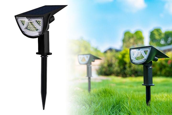 Solcellelampe til hagen