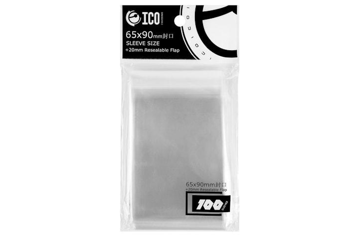 Transparente Plastlommer for Spille kort 100-pakke