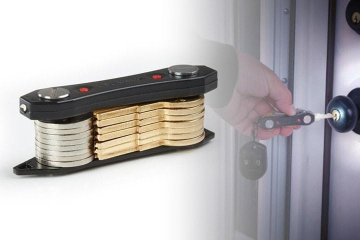 Nyckelhållare med LED-ljus