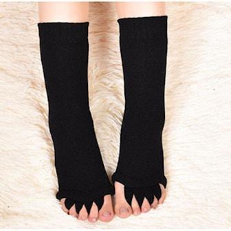 Svart, Toe Separator Socks, Tåspridare, ,