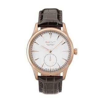 W71003, W71003, Armband: brun, läder. Urtavla: roséguld, vit. Mått:42 mm,